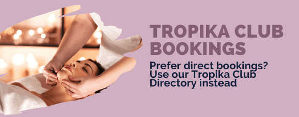 Tropika Club Bookings Bar - Desktop